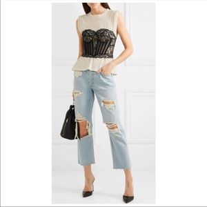 GRLFRND Helena Distressed Straight Leg Jeans